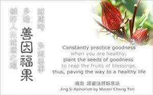 Ketika badan masih sehat, lebih banyak berbuat kebajikan, tanamkan benih kebajikan untuk menuai buah keberkahan, agar terbentang sebuah jalan menuju kehidupan yang sehat.