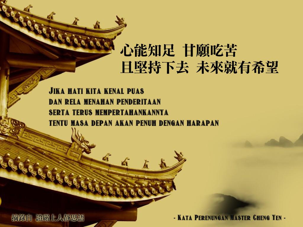 Kata Perenungan Master Cheng Yen Kumpulan Ajaran Sang