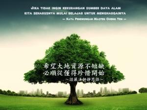 Jika tidak ingin kekurangan sumber daya alam, kita seharusnya mulai belajar untuk menghargainya.