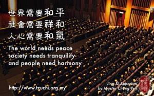 Dunia mendambakan kedamaian, masyarakat memerlukan keamanan dan kesejahteraan, batin manusia membutuhkan keharmonisan.