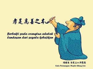 Berbakti pada orangtua adalah landasan dari segala kebajikan.